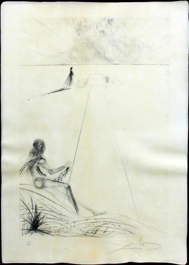"""Salvador Dali - Untitled from """"Roi je t'Attends a"""