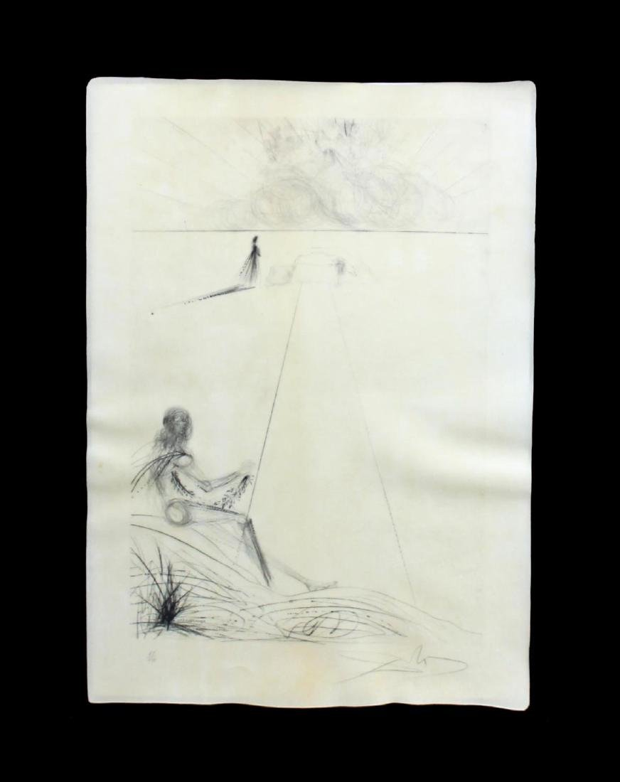 """Salvador Dali - Untitled from """"Roi je t'Attends a - 2"""