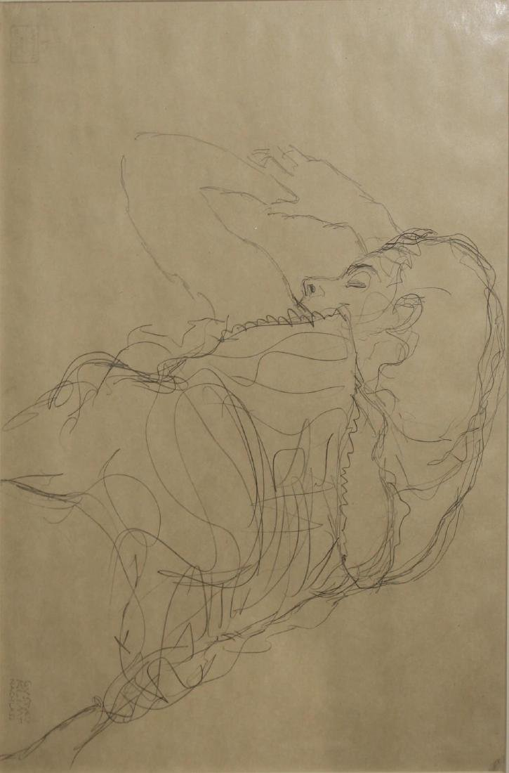 Gustav Klimt - Half-nude Laying on Her Stomach
