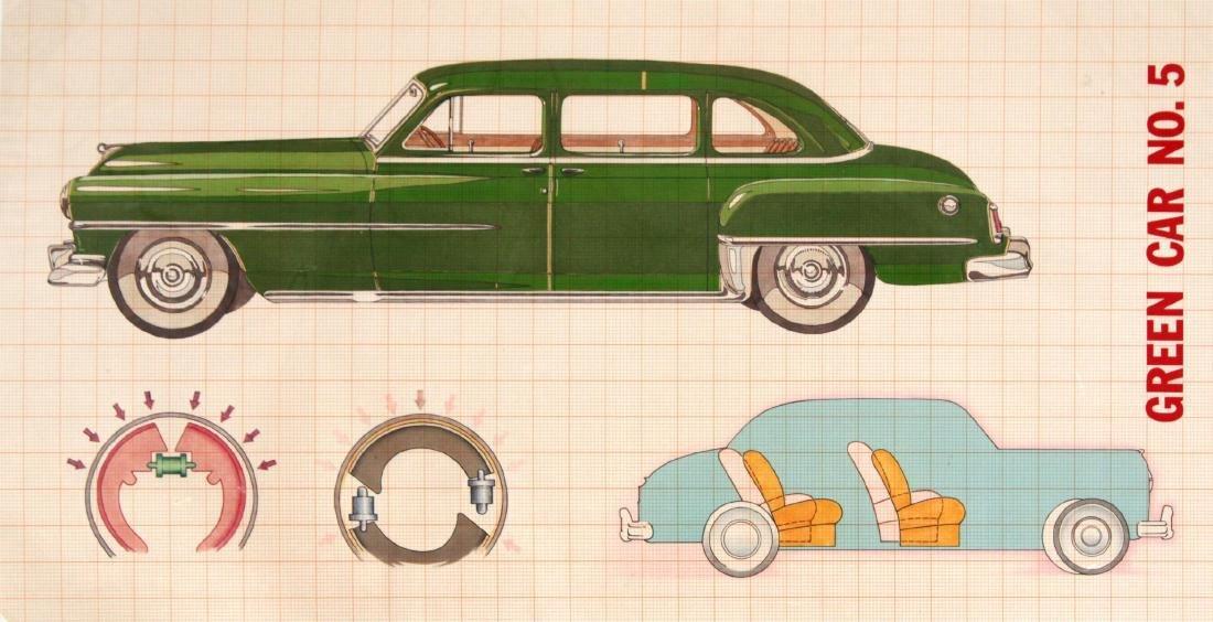 Unknown Artist - Green Car No. 5