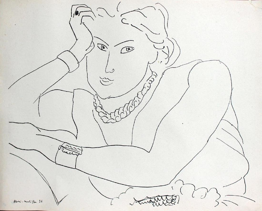 """Henri Matisse  - Untitled from """"Cahiers d'Art 11e"""