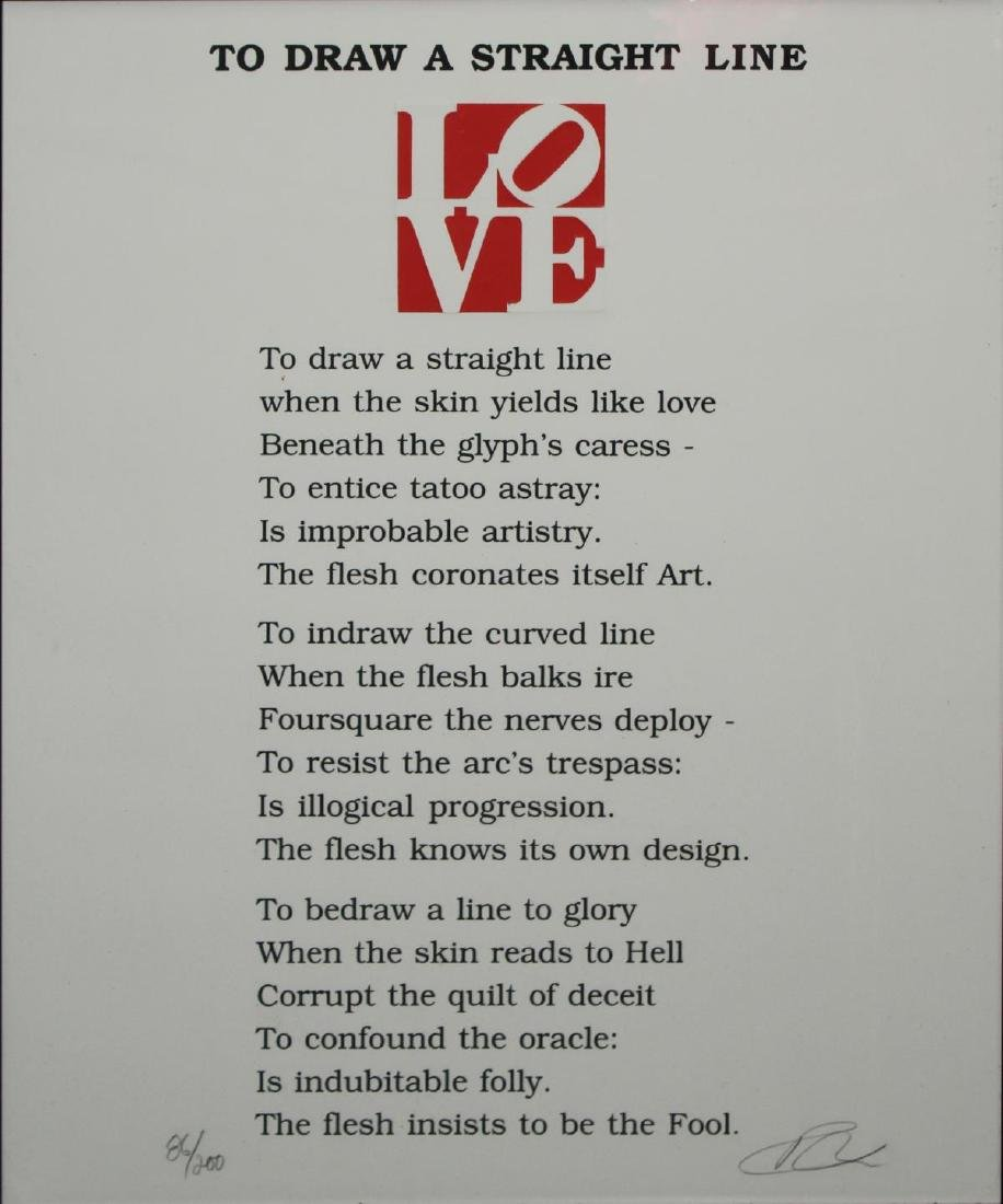 Robert Indiana - To Draw a Straight Line
