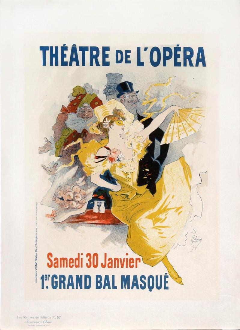 "Jules Cheret - ""Theatre de L'Opera"" Vintage Poster"