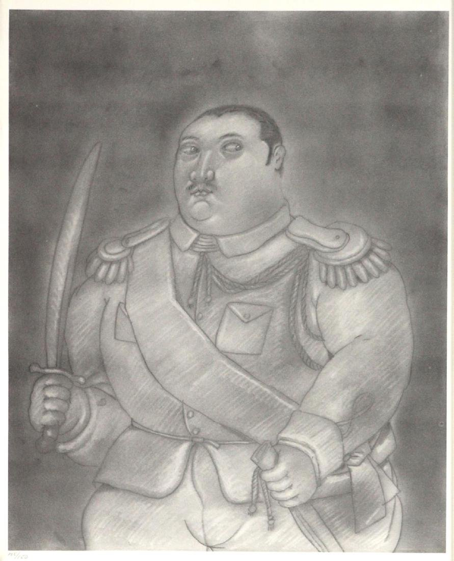 Fernando Botero (After) - Officer with a Sword