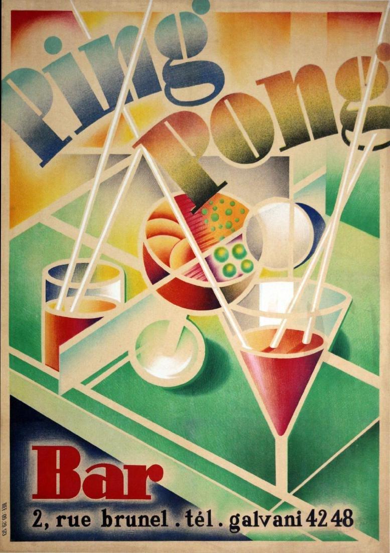 Vintage Poster - Ping Pong Bar