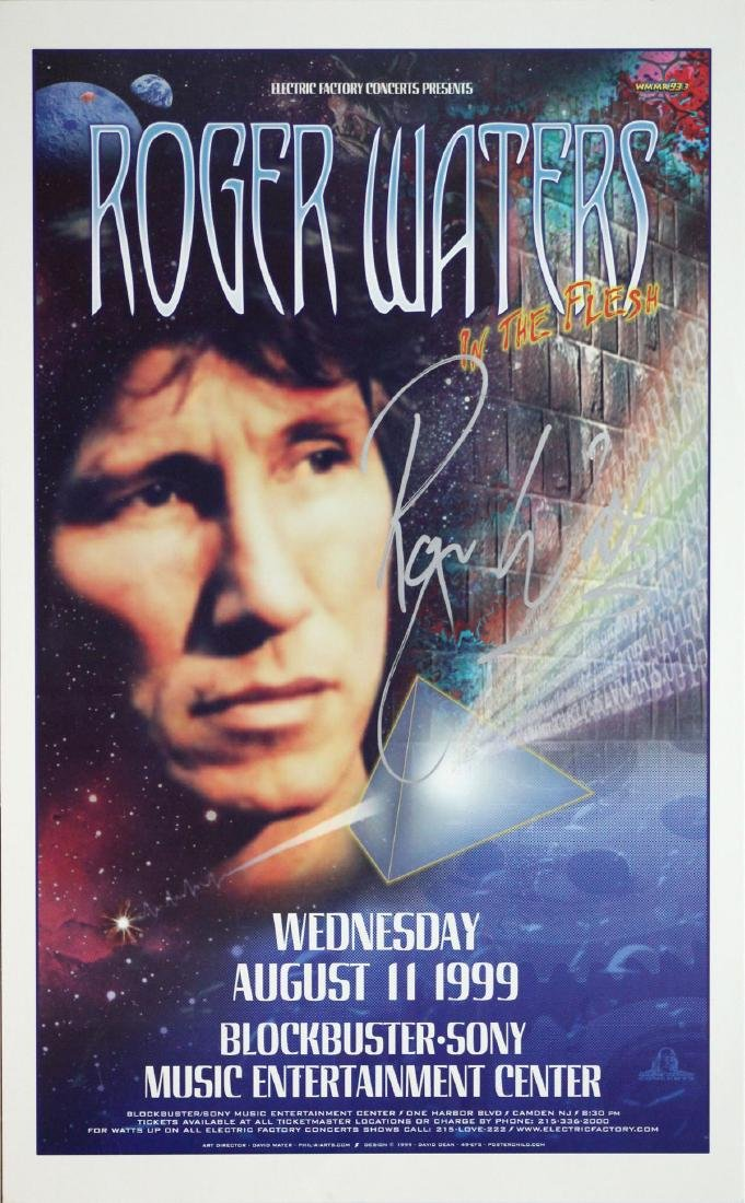 Roger Waters - Hand Signed Tour Poster