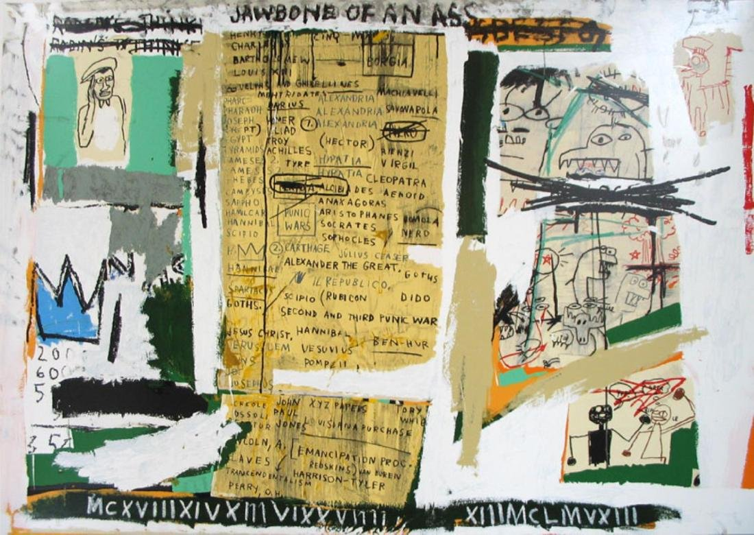 Jean-Michel Basquiat - Jawbone of an Ass