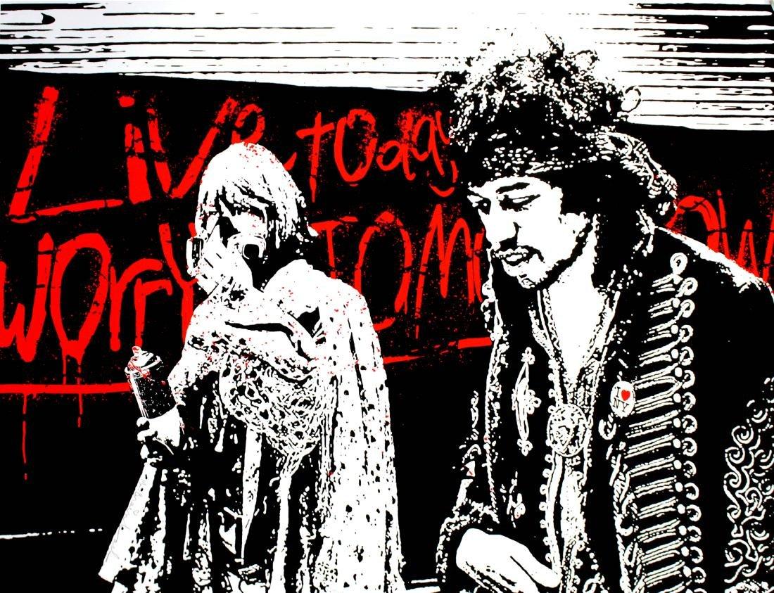 Mr. Brainwash - Live Today Worry Tomorrow (Hendrix)