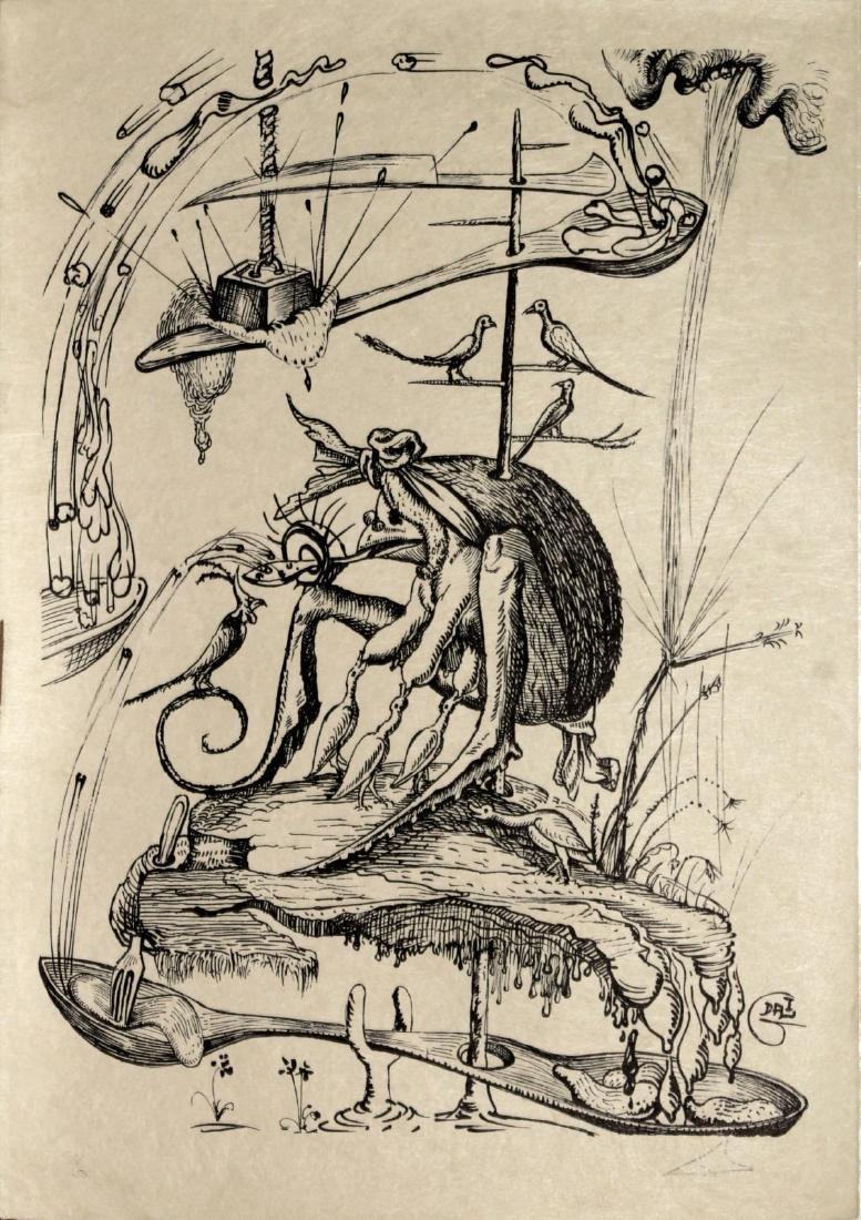 """Salvador Dali - Untitled from """"Les Songes Drolatiques"""