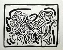 """Keith Haring - Untitled from """"Bad Boys"""""""