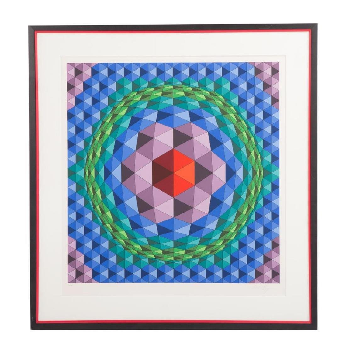 Victor Vasarely - Untitled Op-Art Composition