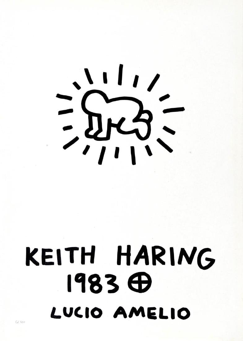 Keith Haring - Cover Lithograph from Lucio Amelio