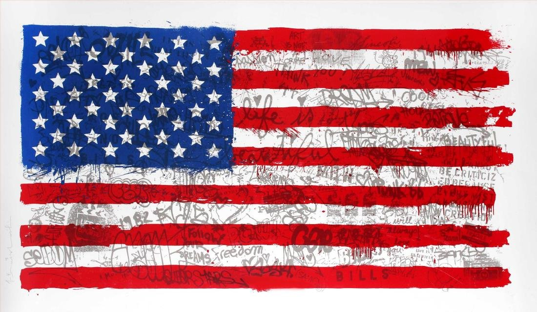Mr. Brainwash - American Flag