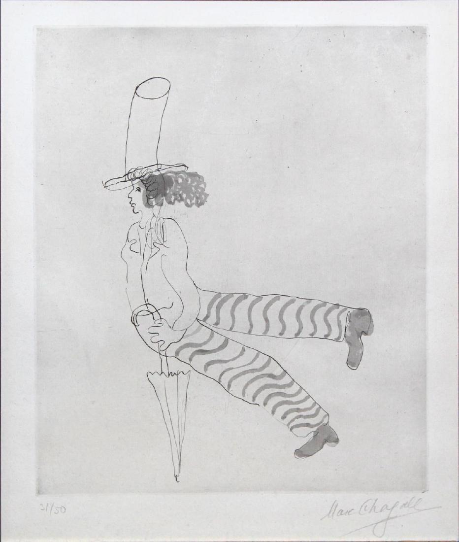 Marc Chagall - L'homme au Parapluie