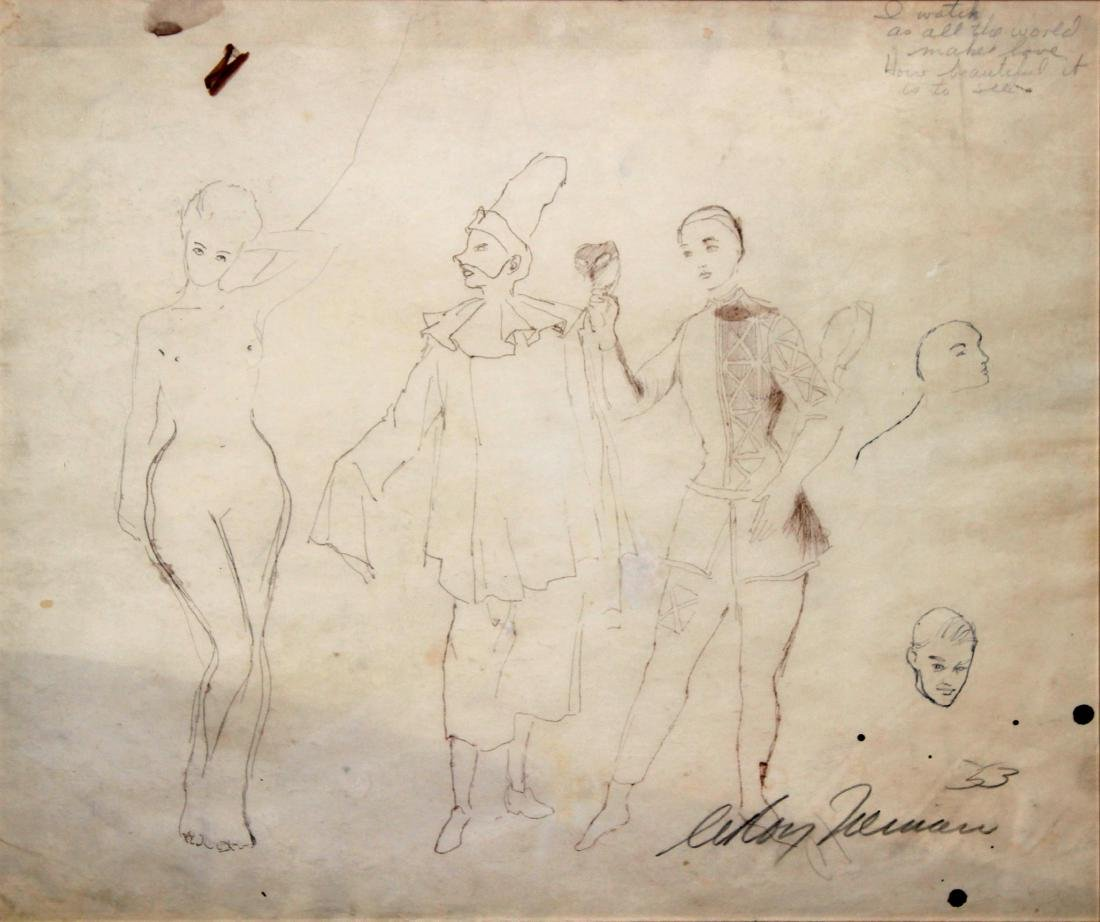 Original Pencil Drawing  by Leroy Neiman