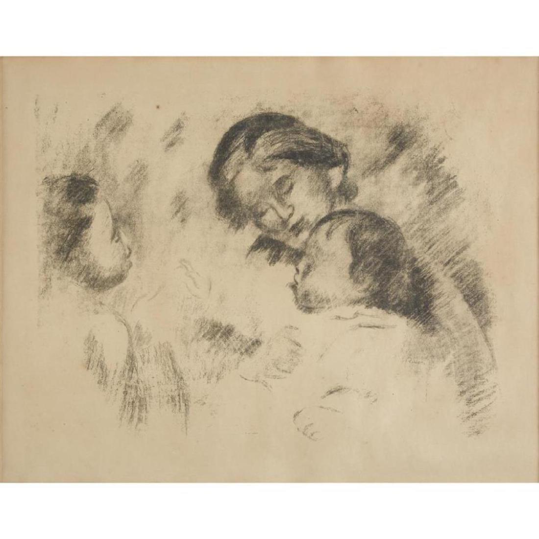 Pierre-Auguste Renoir - Une Mere Et Deux Enfants