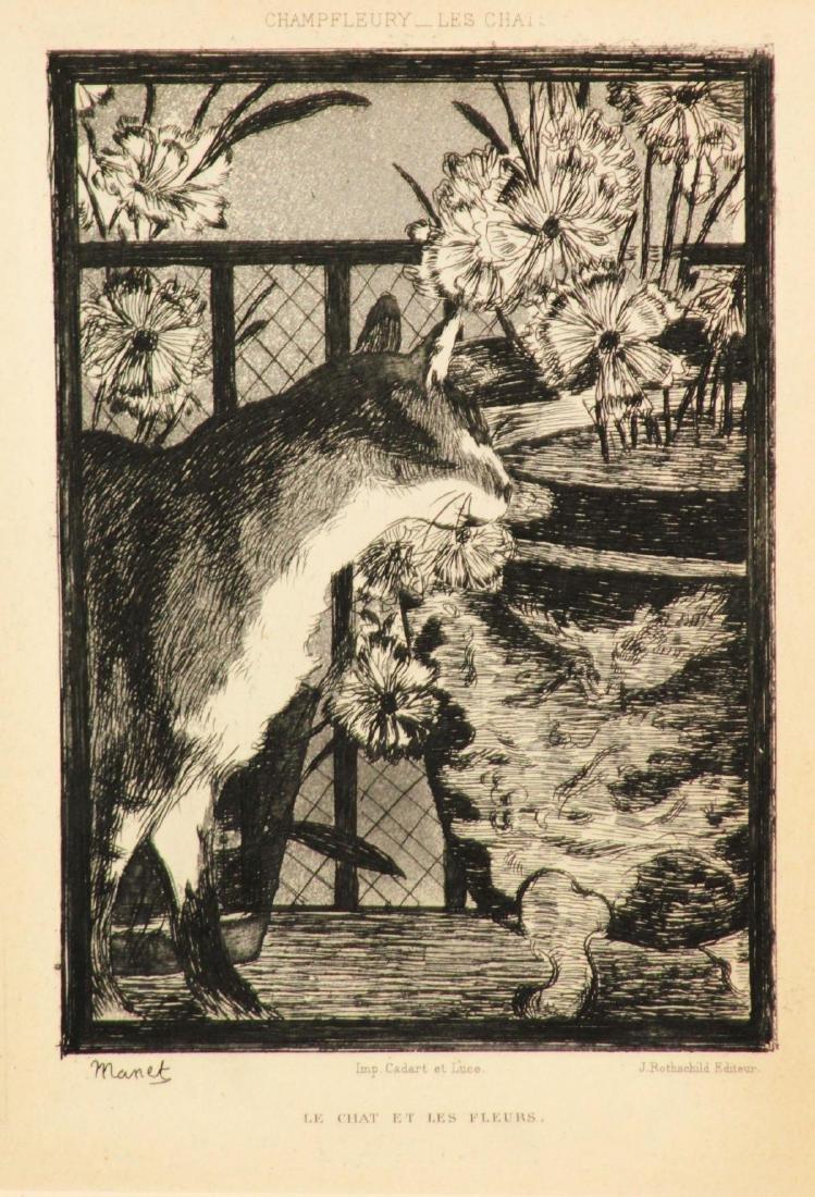 Edouard Manet - Le Chat et les Fleurs