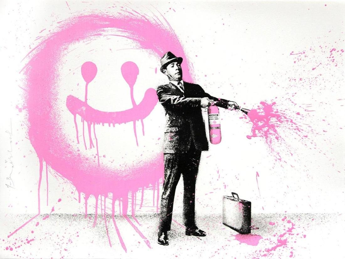 Mr. Brainwash - Spray Happiness (Pink)