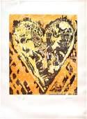 Jim Dine  Woodcut Heart