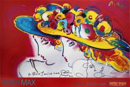 Peter Max - Friends w/ Unique Drawing