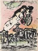 Marc Chagall - Lovers in the Sky