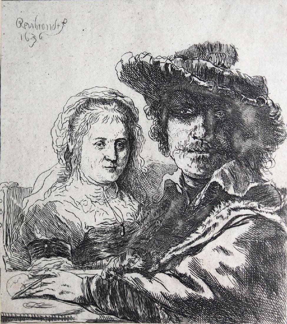 Rembrandt van Rijn - Rembrandt and his Wife Saskia