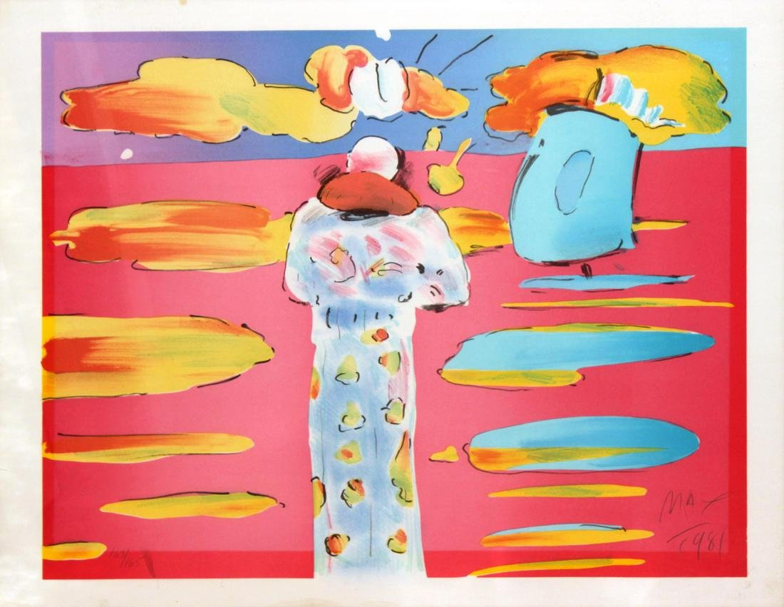 Peter Max - Monk at the Red Sea