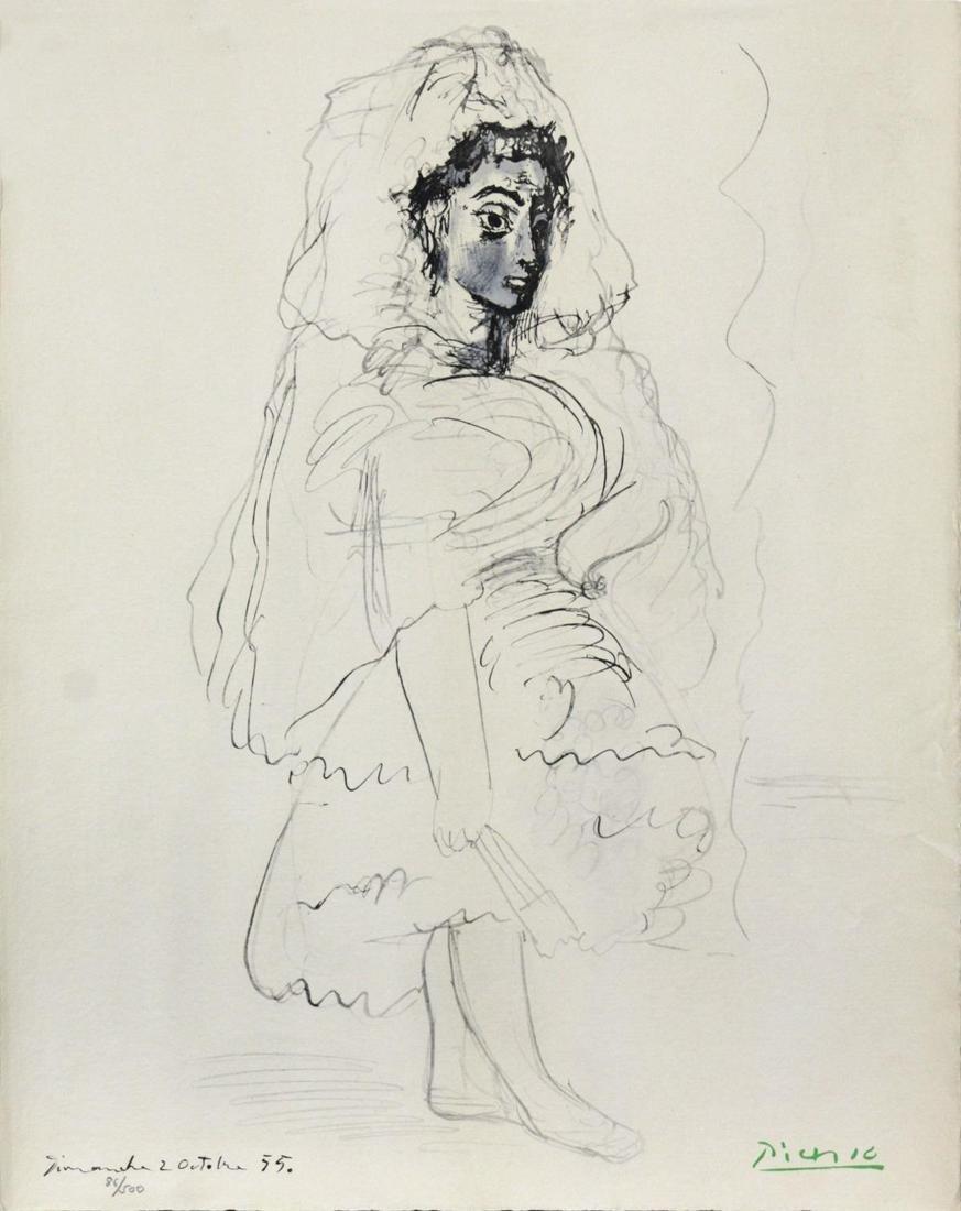Pablo Picasso (After) - Jacqueline en Espagnole