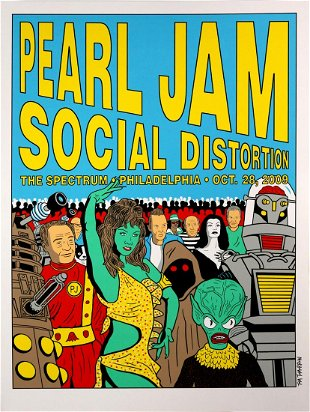 27 Pearl Jam Concert Posters - Apr 26, 2019 | Briggs Auction, Inc  in PA