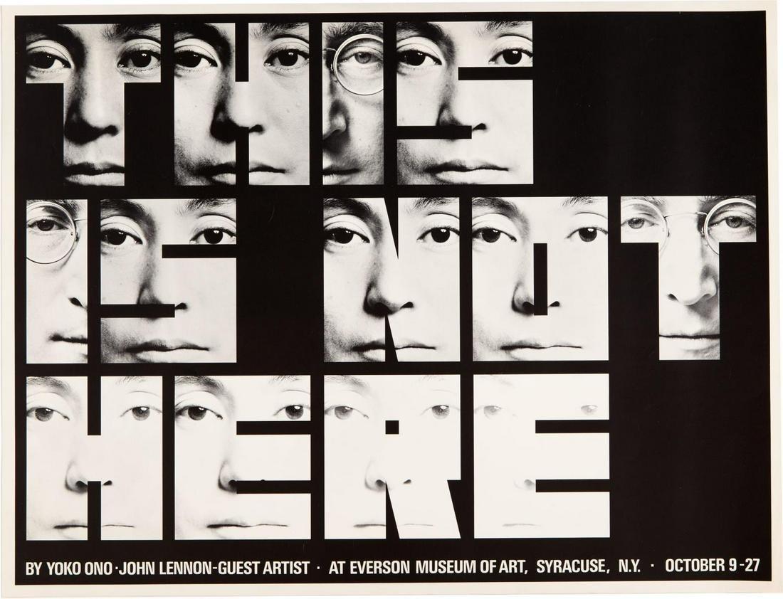 """Yoko Ono/John Lennon - Original program for """"This is"""