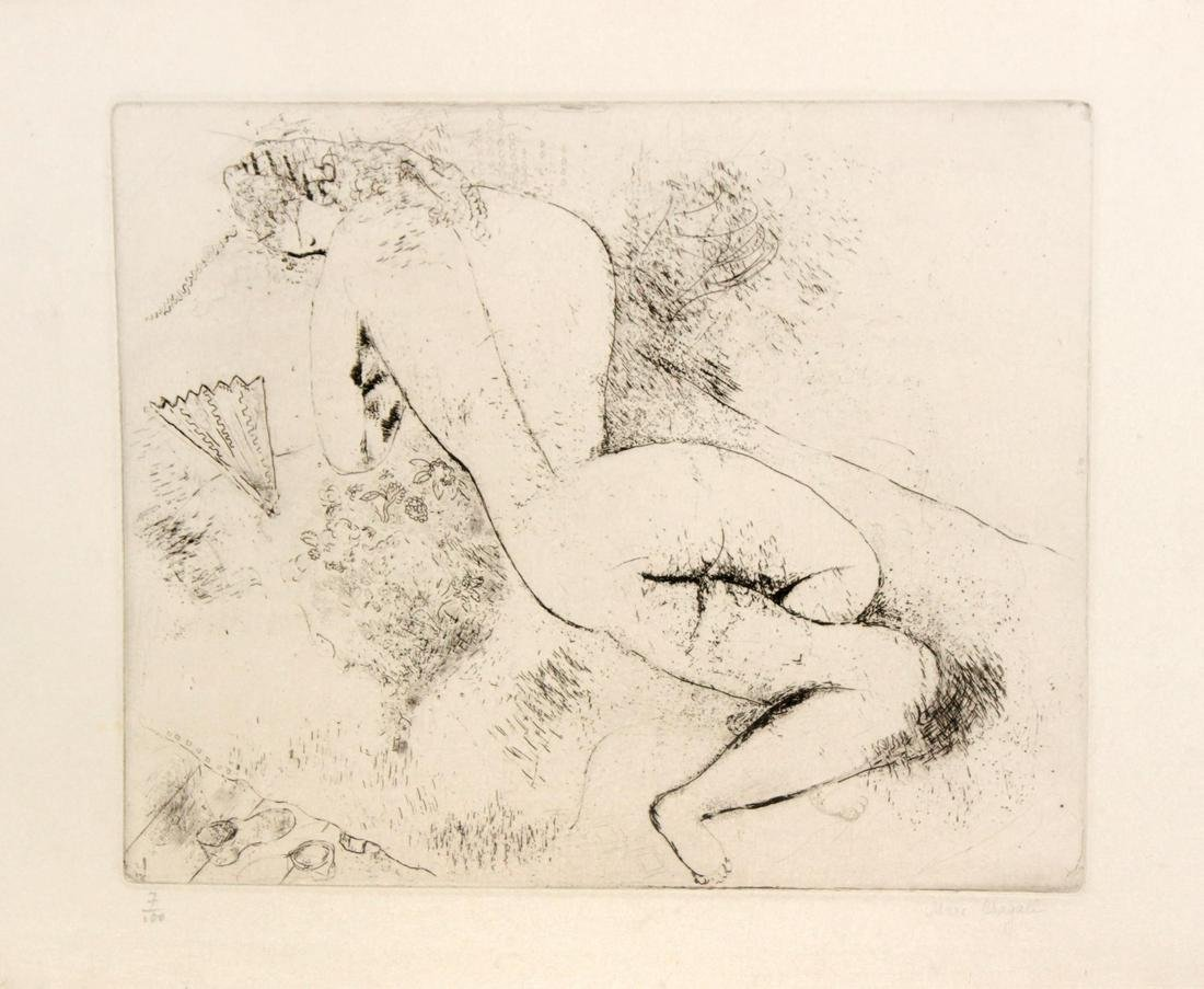 Marc Chagall - Femme a l'eventail