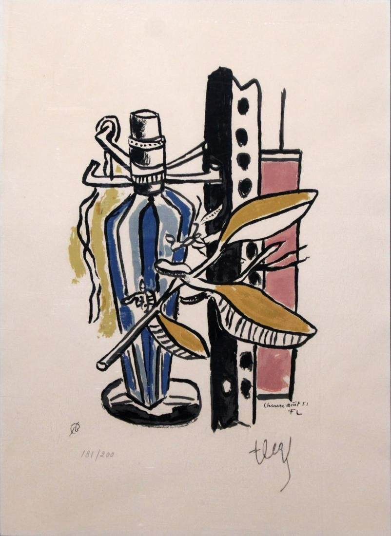 Fernand Leger - La Bouteille Blue