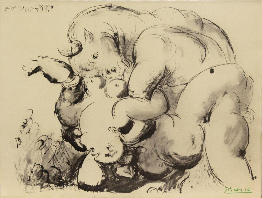 Pablo Picasso (After) - Minotaure et Nue