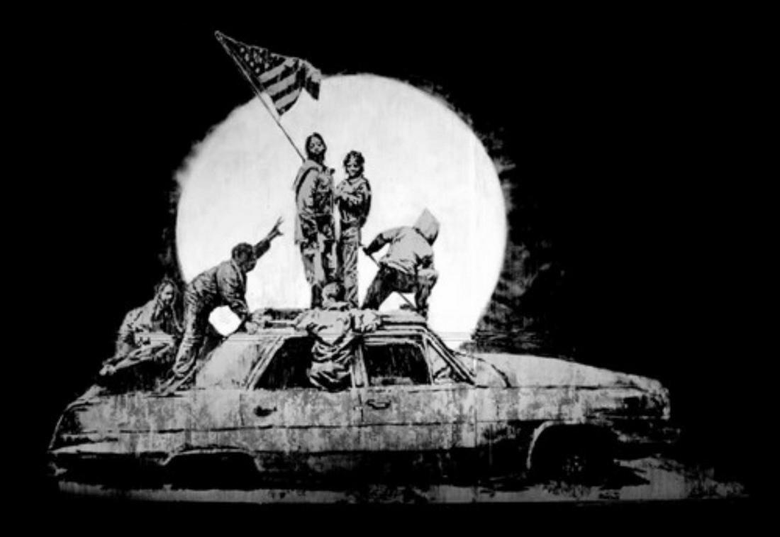Banksy - Silver Flags