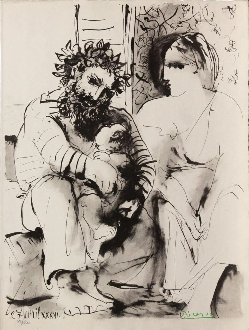 Pablo Picasso (After) - Scene de Famille