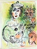 Marc Chagall - The Clown with Flowers