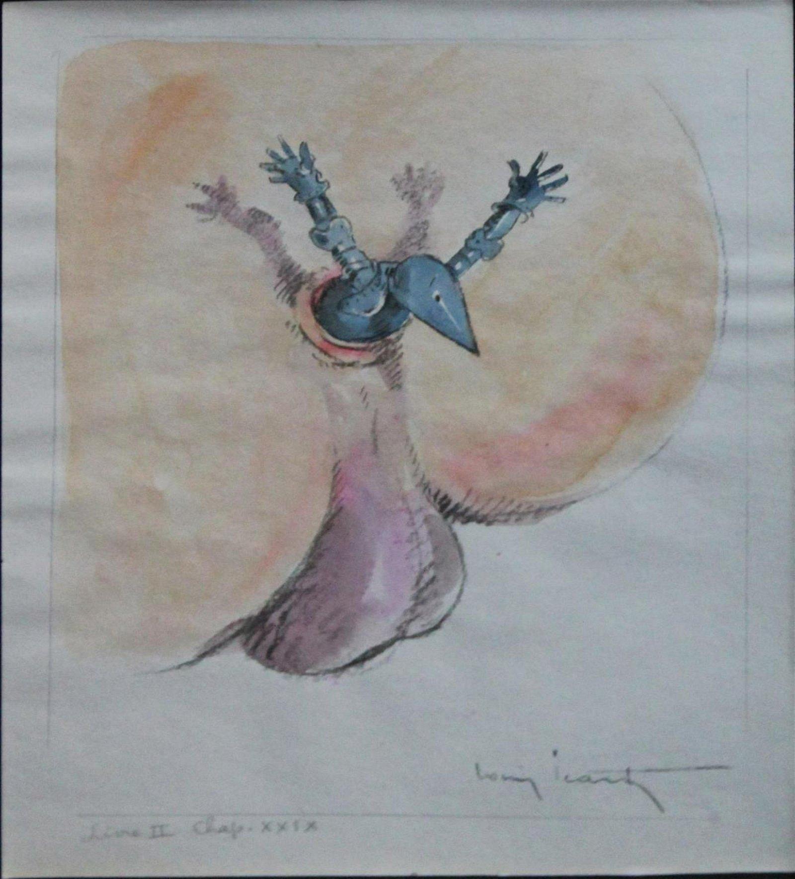 Louis Icart - Gargantua Watercolor