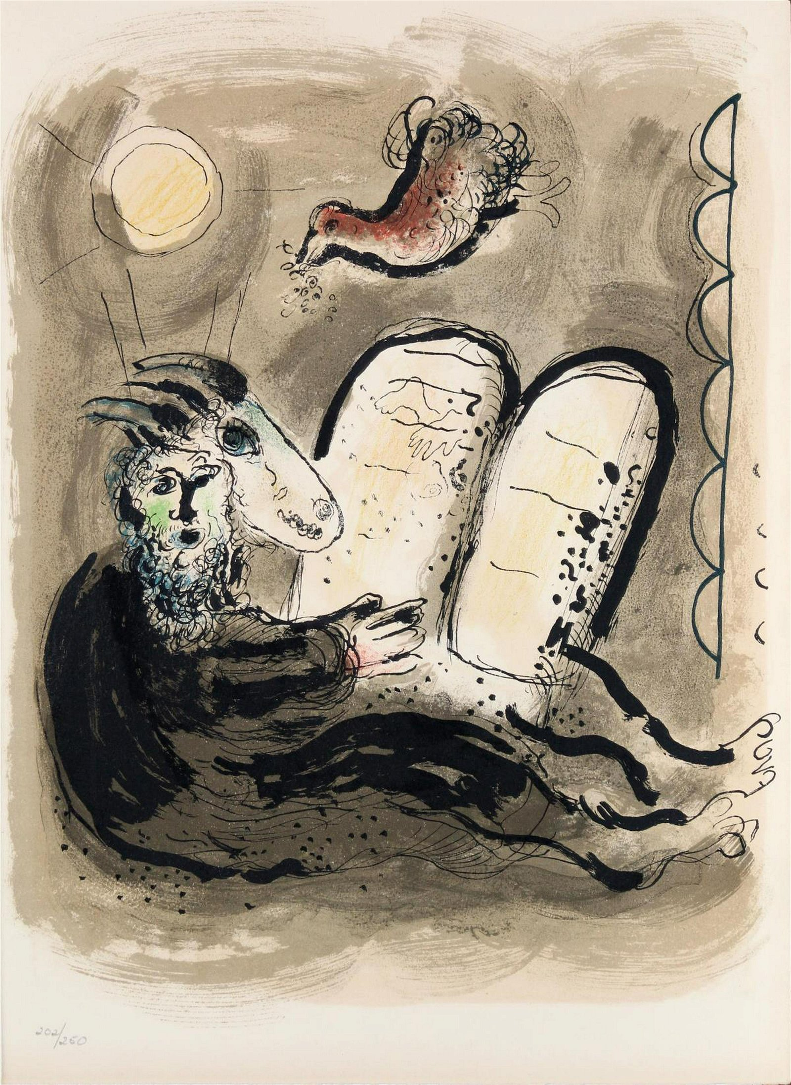 Marc Chagall- Untitled Double-sided Lithograph