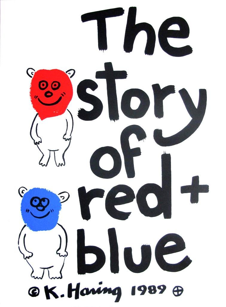 Keith Haring - Story of Red and Blue Cover Portfolio
