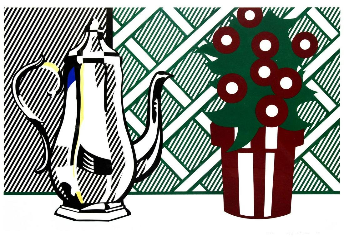 Roy Lichtenstein - Still Life with Pitcher and Flowers
