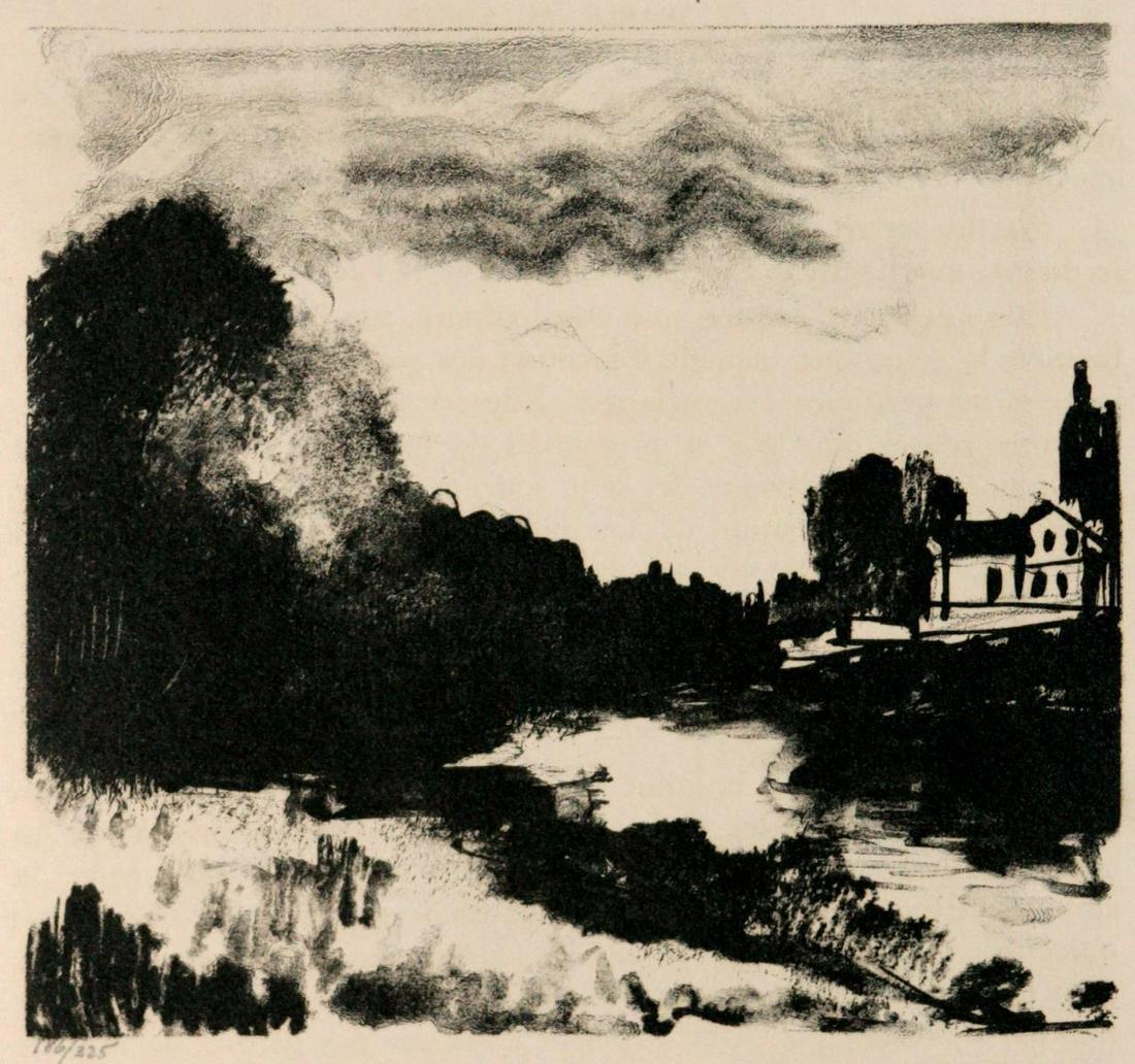 """Maurice de Vlaminck - Untitled from """"Le Diable au"""