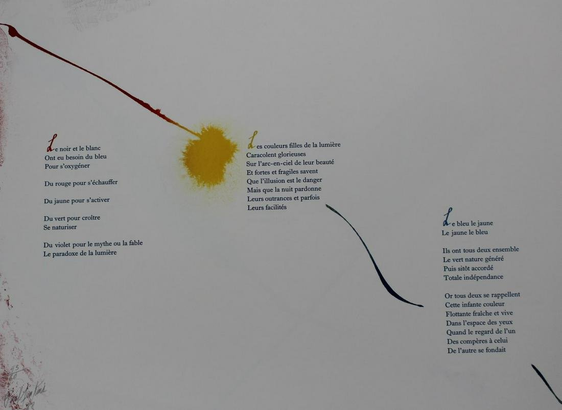 """Paul Jenkins - Untitled from """"Euphories de la Couleur"""""""