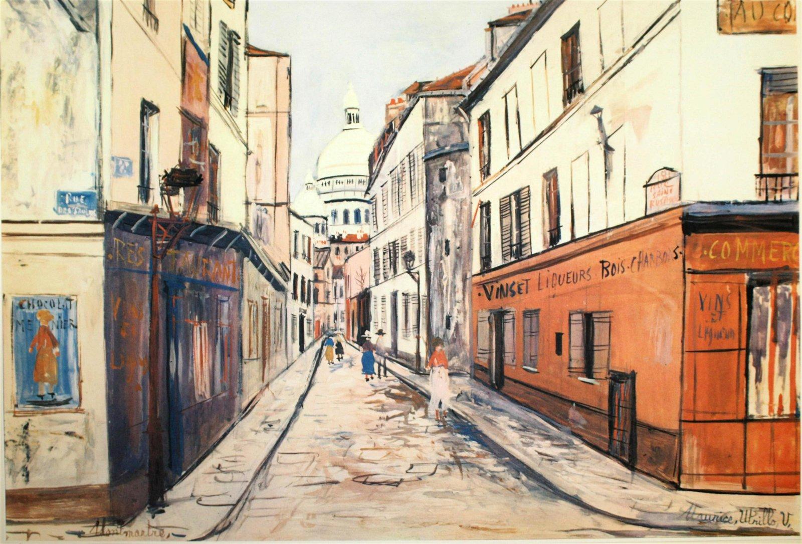 Maurice Utrillo -  Montmartre (Tavola 38)