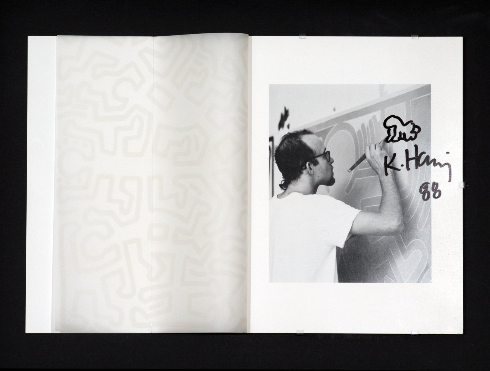 Keith Haring - Baby Remarque with Original Drawing