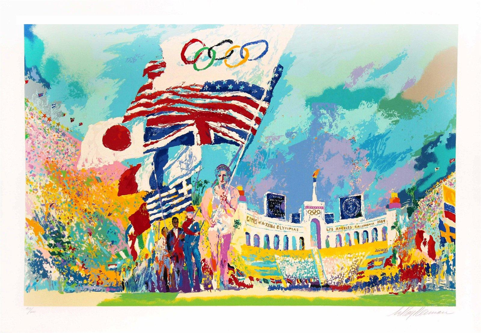 LeRoy Neiman - Opening Ceremony Olympics