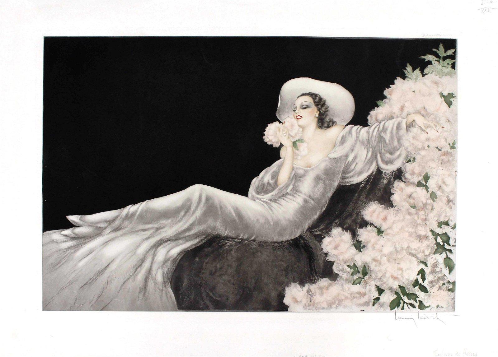 Louis Icart - Love's Blossom