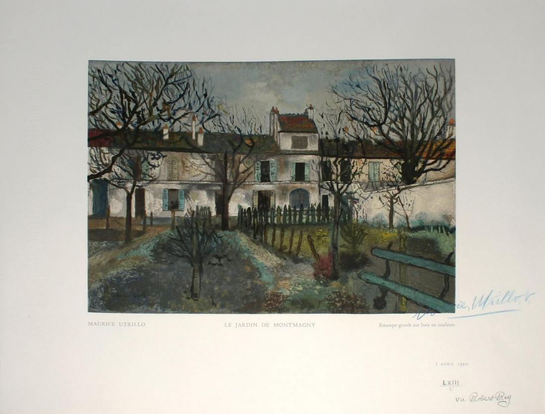 Maurice Utrillo - Le Jardin de Montmagny