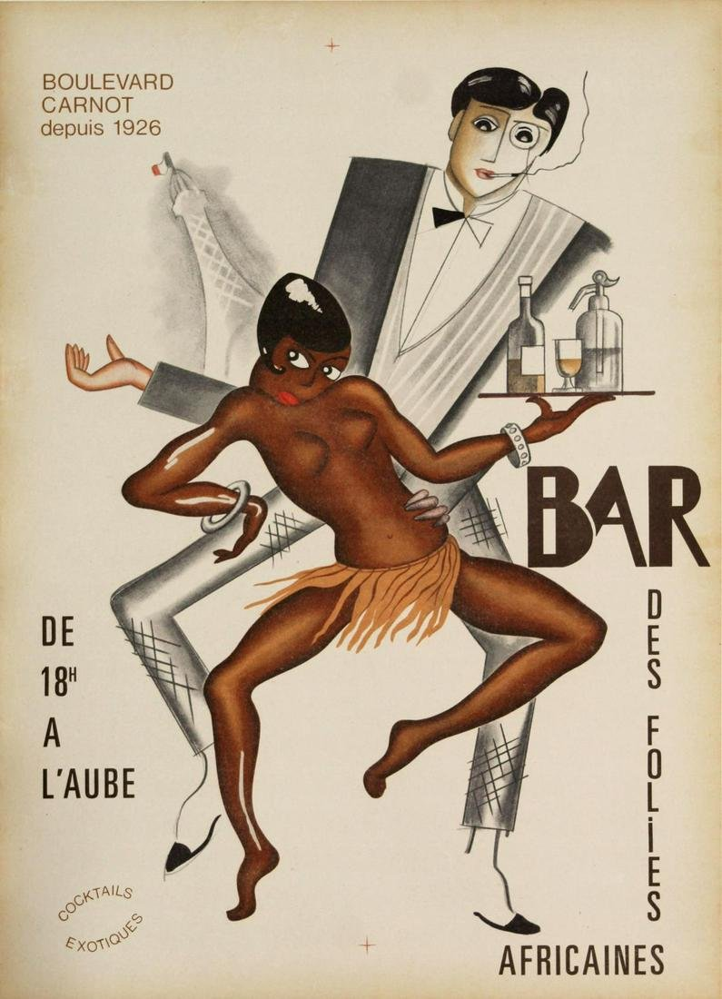 Vintage Poster - French Bar Africaines Ad