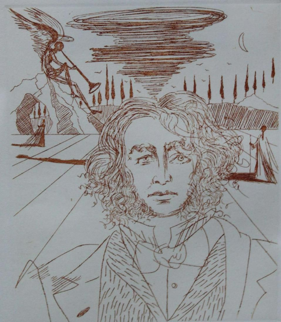 "Salvador Dali - Henry Wadsworth Longfellow from ""Five"
