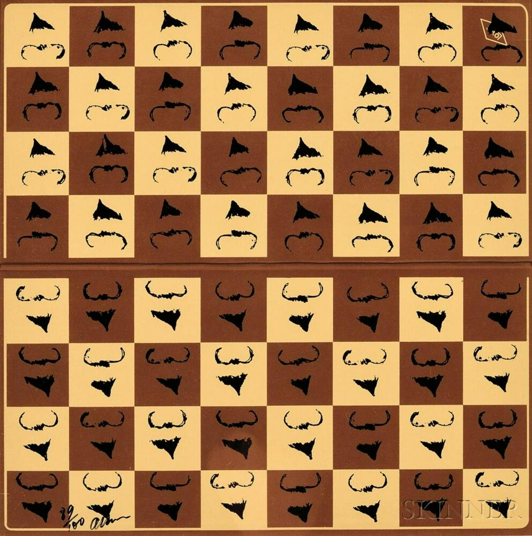 Arman - Chessboard in Hommage to Marcel Duchamp's